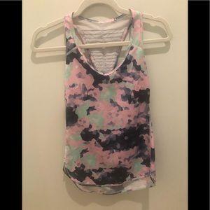 Lululemon pink printed tank top